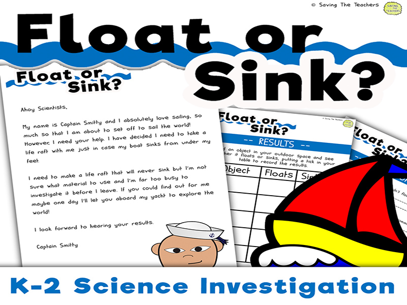 Sink or Float Science Investigation