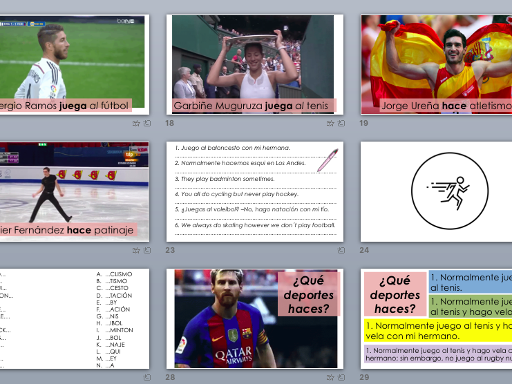 SPANISH SPORTS and HOBBIES full module ppt