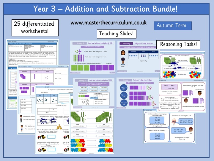 Year 3- Addition and Subtraction  Bundle