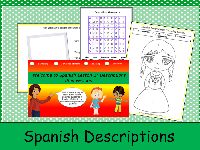 KS1 Spanish Descriptions: Lesson 2