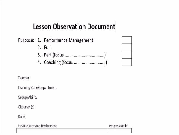 Lesson Observation of a Teacher template by biliboi - Teaching ...