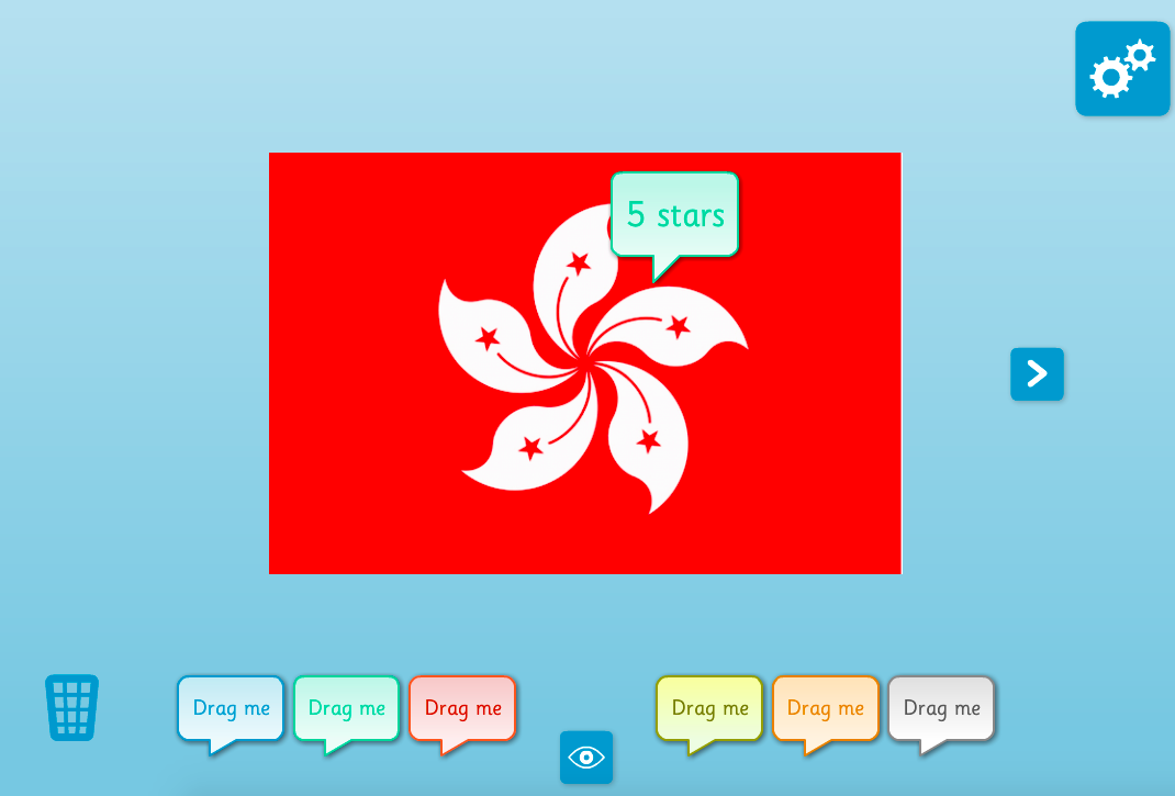 Picture Annotator: Flags - Interactive Activity - KS1 Geometry