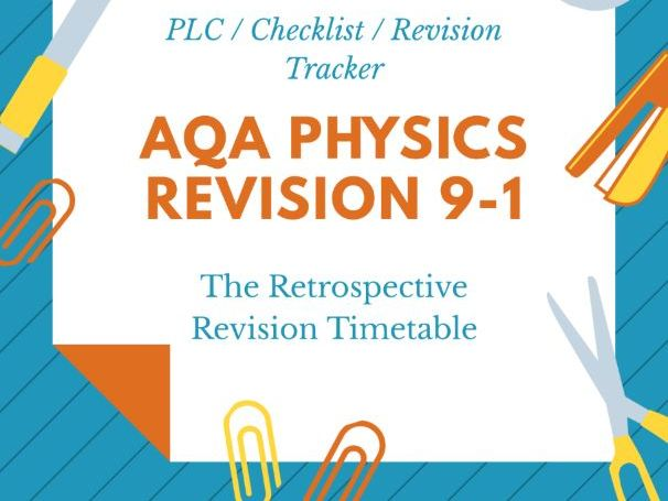 AQA GCSE Science Physics Revision Tracker PLC 9-1