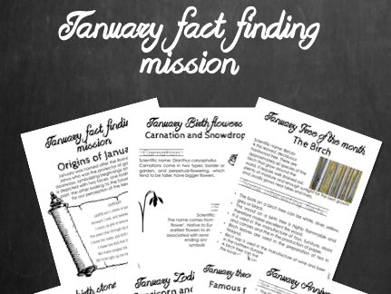January fact finding mission - Facts relating to January to support learning