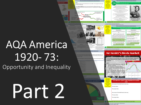 AQA America 1920-1973: Opportunity and Inequality Part 2