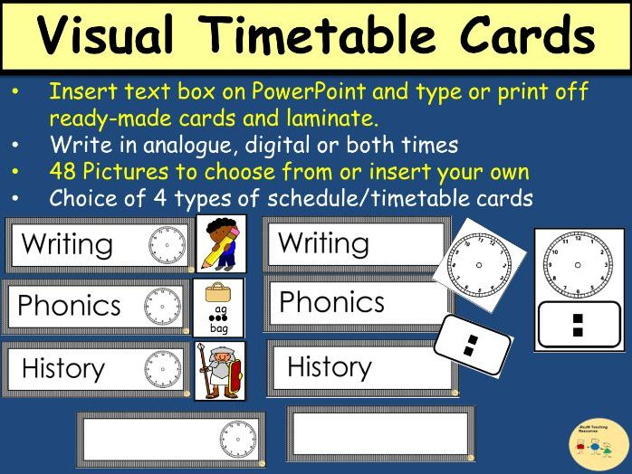 Timetable/Schedule Cards (Editable and Non-Editable) - Analogue/Digital Clocks Clipart