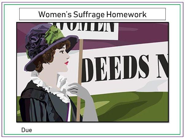 Women's Suffrage Homework