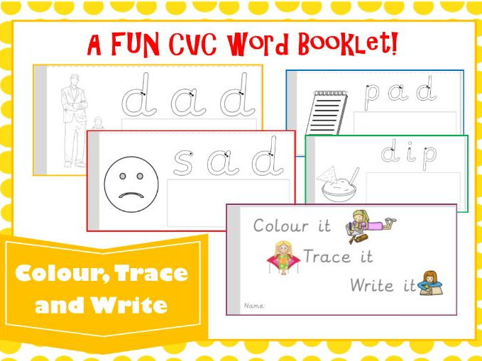 Phase 2 CVC Words Booklet