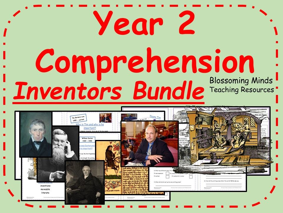 KS1 Reading Comprehension Bundle - Inventors