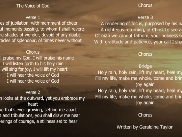 The Voice of God - Song