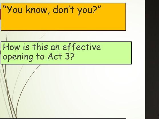 An Inspector Calls Act 3 Activities
