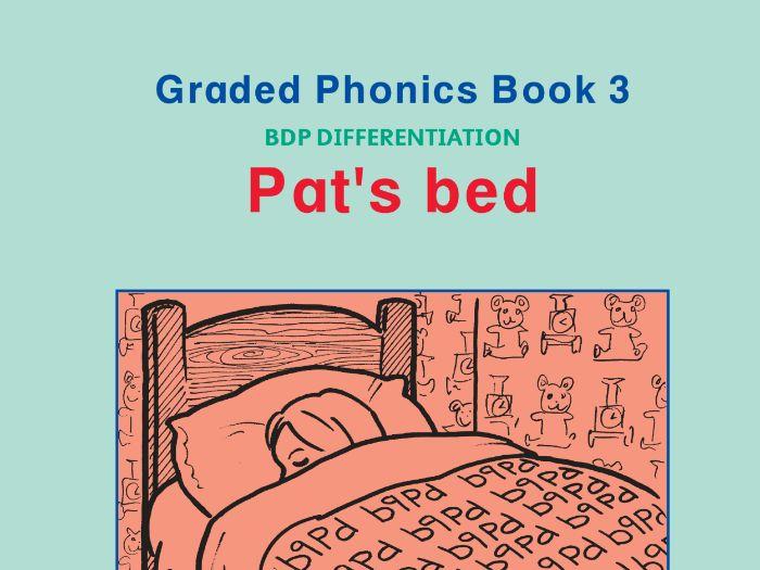 PHONICS BOOK 3 PAT'S BED