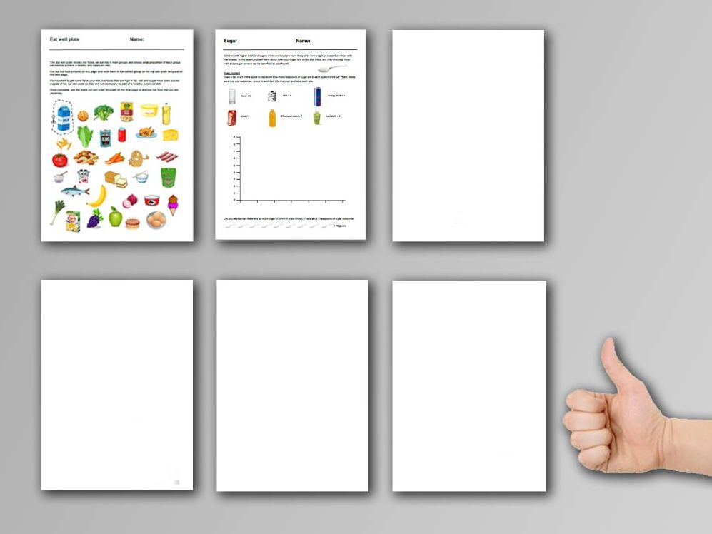 2 Food cover work / cover lessons - Tried and tested worksheets