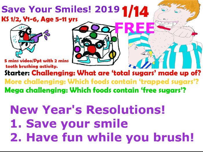 FREE Part 1/14 New years Resolution - Save Your Smiles!