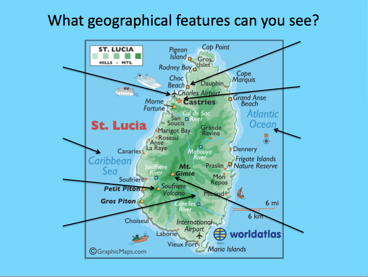 Identifying the human and physical features of St Lucia
