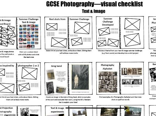 GCSE Photography project - Text & Image