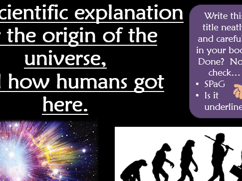 KS3 RE Ultimate Questions: How did the universe get here? Lesson 2 Science