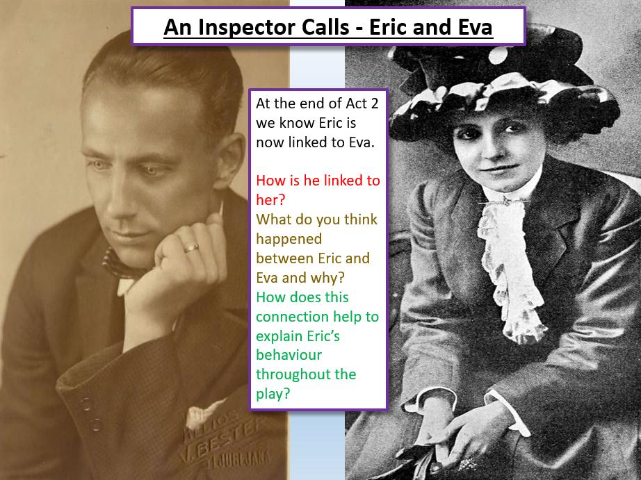 An Inspector Calls - Eric and Eva