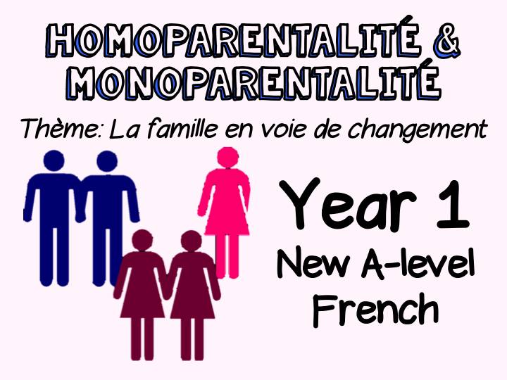 {NEW French A-level} Year 1 - La vie de couple : homoparentalité & monoparentalité