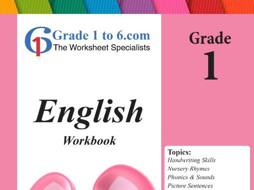 Grade 1 English Workbook/ Worksheets bundle from www.Grade1to6.com Books