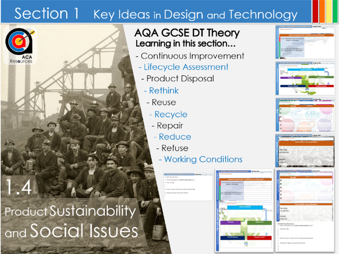 AQA GCSE DT 1.4 Sustainability and Social Issues