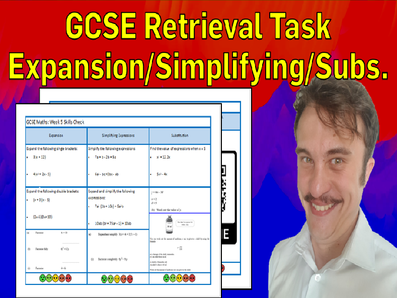 Expansion, Simplifying Expressions and Substitution GCSE Foundation/Resit Retrieval Sheet