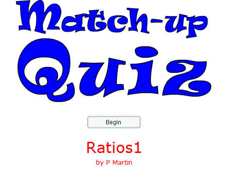 Starter or Plenary Game involving Ratios.