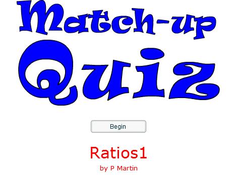 Starter or Plenary Game involving Ratios.