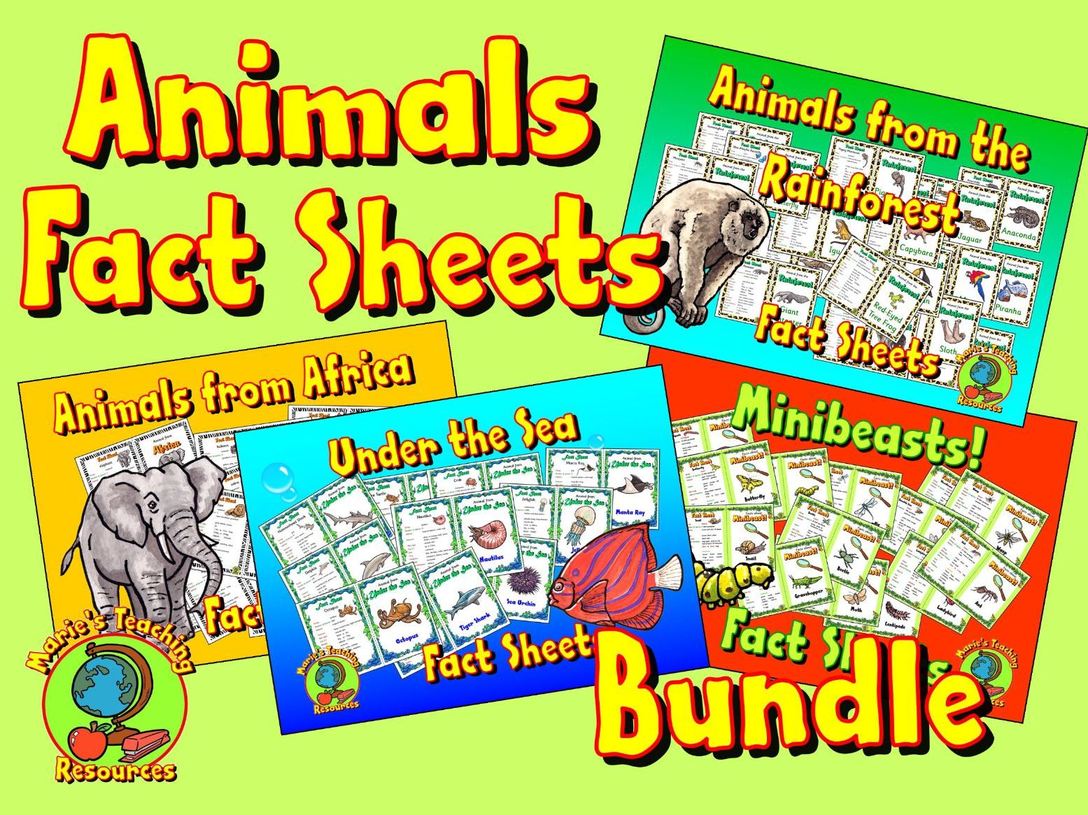 Animals Fact Sheets Bundle