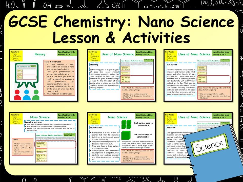 KS4 AQA Chemistry (Science) Nano Science Lesson