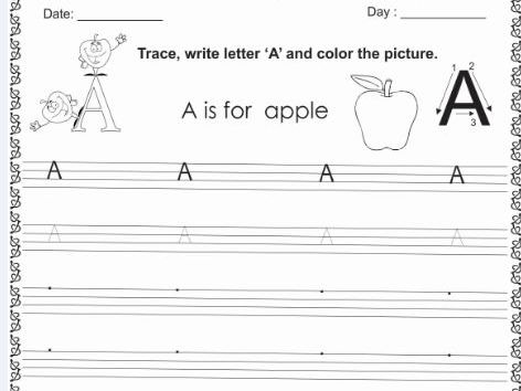 Lets Learn Letter A