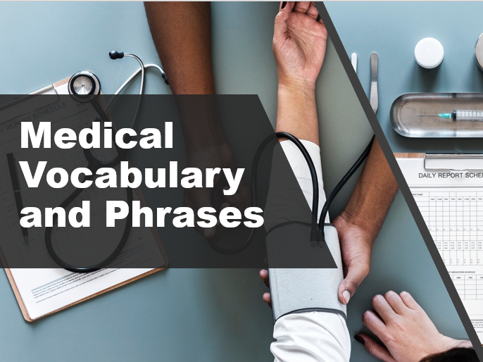 Medical Vocabulary and Phrases. Interactive PowerPoint Lesson for B1/B2 Level
