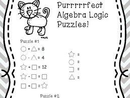Freebie! Algebra Logic Puzzle
