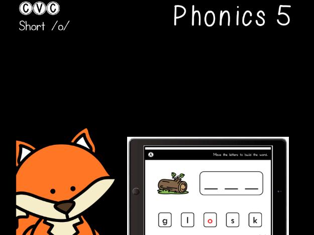 CVC Short O - Digital Center - Word Builder - Phonics (Google Classroom)