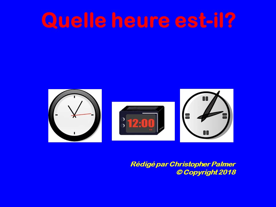 French: Telling the time
