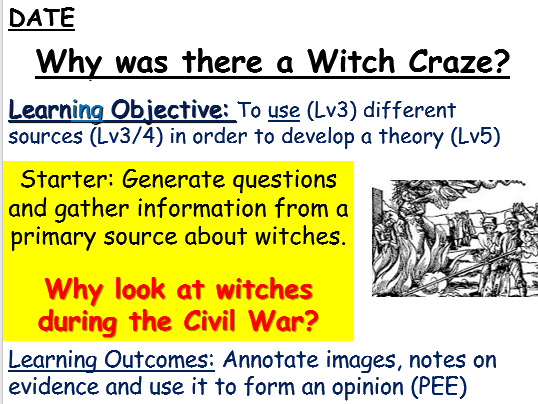 Witches and the English Civil War (James I)