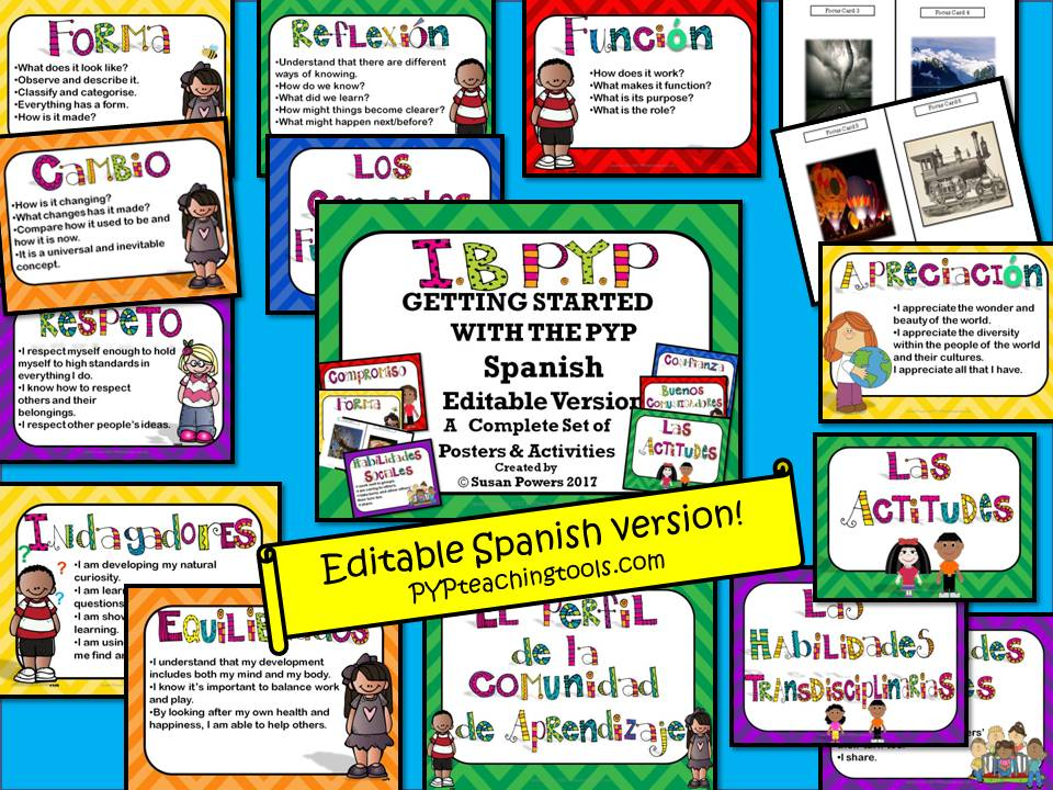 Spanish Getting Started with the IB PYP Kit Editable