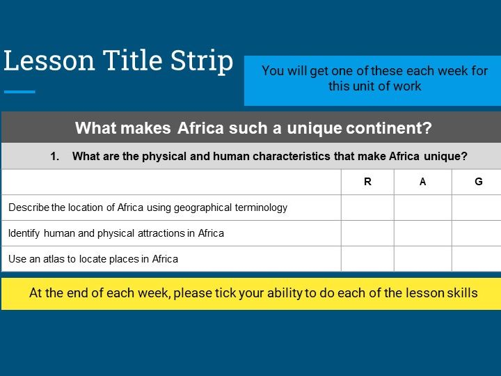 KS3 African human and physical attractions - Lesson 1 in a unit on Extreme Africa