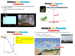 Motion in Two Dimensions; Projectile Motion  – Lesson Presentation (PPT)