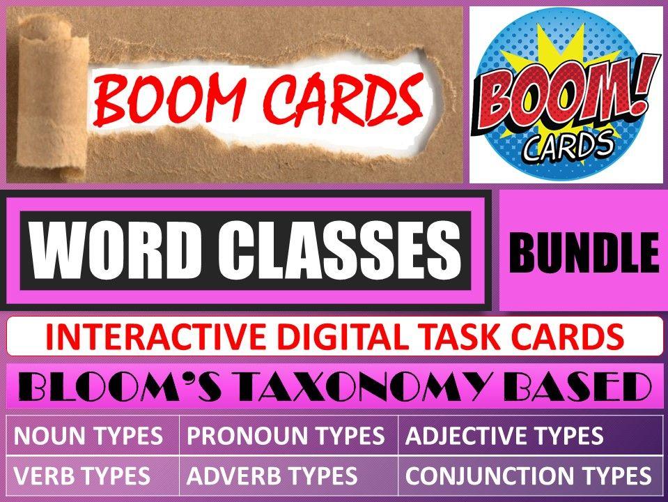 WORD CLASSES: BOOM CARDS - BUNDLE