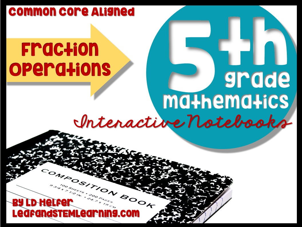 Grade 5 Fraction Operations Common Core Interactive Notebooks