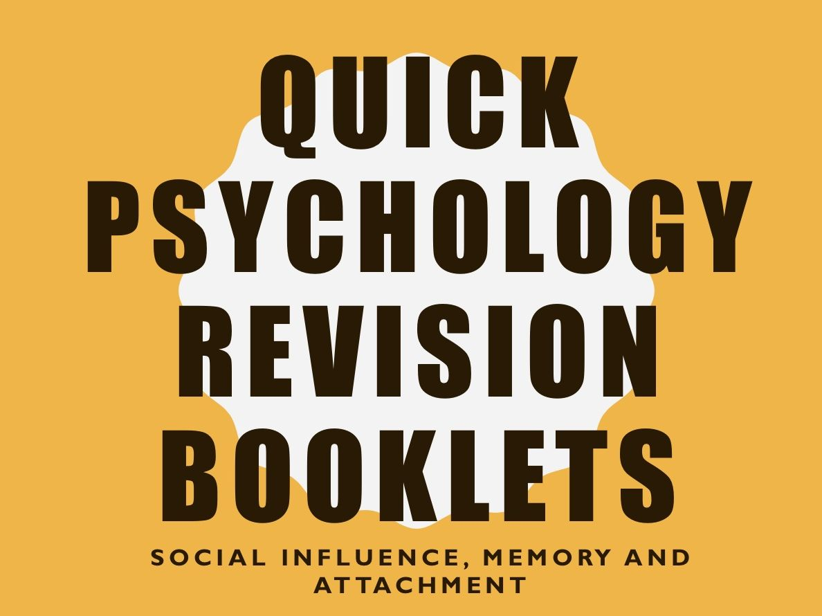 Quick Revision Psychology Bundle