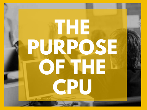 The purpose of the CPU