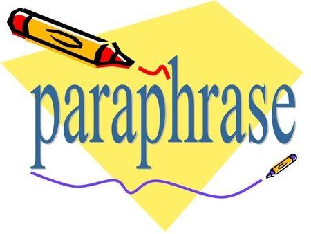 Test Paraphrasing Skills Worksheet with Key