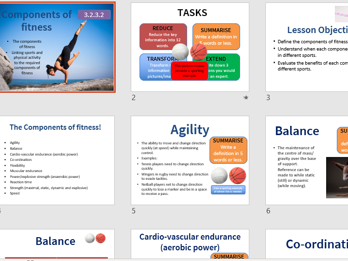The Components of Fitness GCSE PE