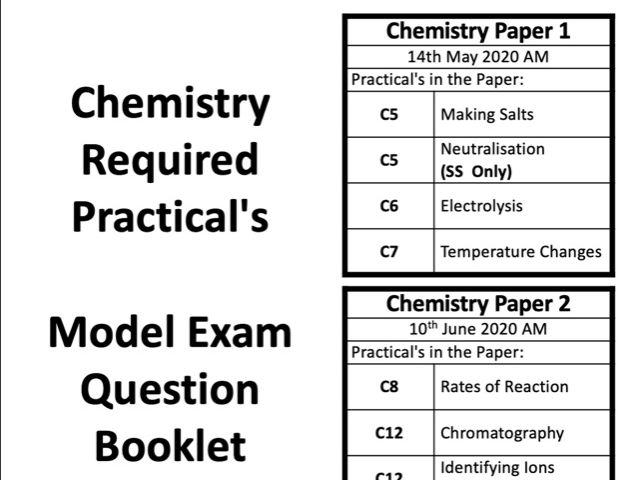 AQA GCSE Chemistry Required Practicals