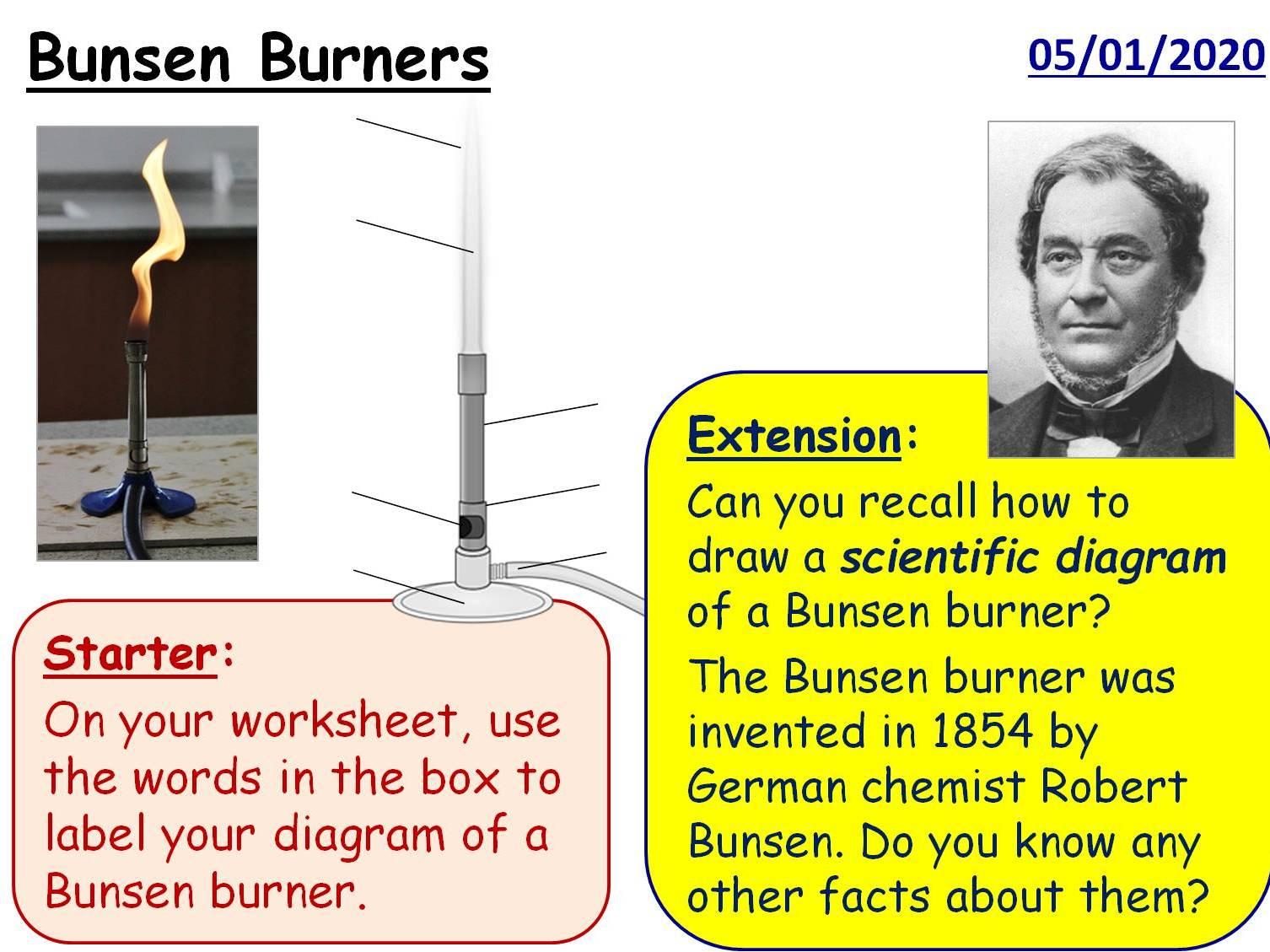 Year 7 Science Practical Skills - 3 full lessons (KS3 Bunsens)
