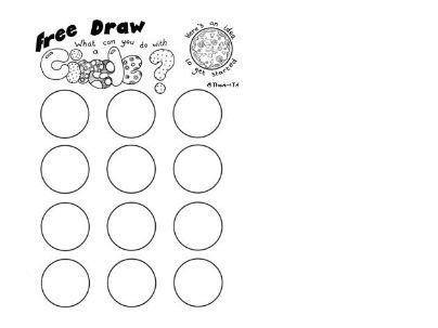 Early finisher / free draw art worksheet based on circles