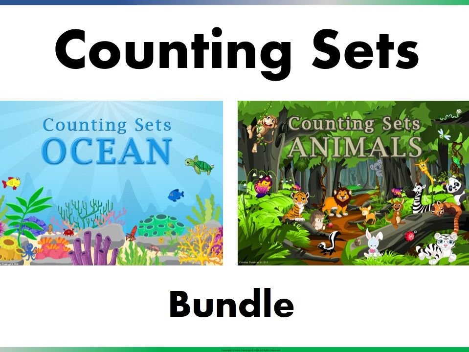 Counting Sets Ocean and Animal Bundle