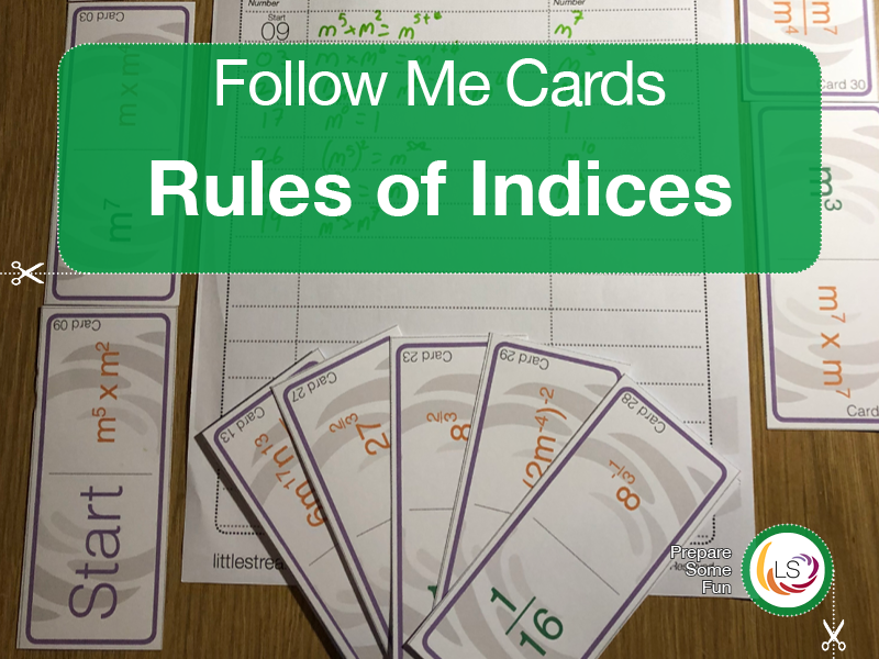Rules of Indices | Follow Me Cards UK Version